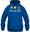 GearLaunch Apparel Unisex Heavyweight Pullover Hoodie / Royal / S Best day ever Softball T-shirt