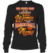 GearLaunch Apparel Unisex Long Sleeve Classic Tee / Black / S Basketball Custom T Shirt God Found Some Of The Loudest Women