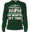 GearLaunch Apparel Unisex Long Sleeve Classic Tee / Forest Green / S Football My kid's passion custom t shirt design