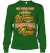 GearLaunch Apparel Unisex Long Sleeve Classic Tee / Irish Green / S Basketball Custom T Shirt God Found Some Of The Loudest Women