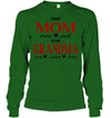 GearLaunch Apparel Unisex Long Sleeve Classic Tee / Irish Green / S First mom now grandma Mother's day Custom T-shirt with name #0905H