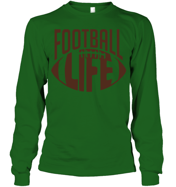 GearLaunch Apparel Unisex Long Sleeve Classic Tee / Irish Green / S Football Life custom t shirt design