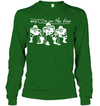 GearLaunch Apparel Unisex Long Sleeve Classic Tee / Irish Green / S Football My love is on the line custom t shirt design