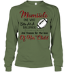 GearLaunch Apparel Unisex Long Sleeve Classic Tee / Military Green / S Football Momsicle custom t shirt design