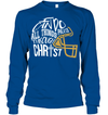 GearLaunch Apparel Unisex Long Sleeve Classic Tee / Royal / S Football I can do all things through Christ custom t shirt design