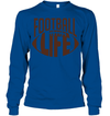 GearLaunch Apparel Unisex Long Sleeve Classic Tee / Royal / S Football Life custom t shirt design