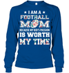 GearLaunch Apparel Unisex Long Sleeve Classic Tee / Royal / S Football My kid's passion custom t shirt design