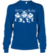 GearLaunch Apparel Unisex Long Sleeve Classic Tee / Royal / S Football My love is on the line custom t shirt design