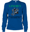 GearLaunch Apparel Unisex Long Sleeve Classic Tee / Royal / S Football Quarterbacks need  heroes custom t shirt design