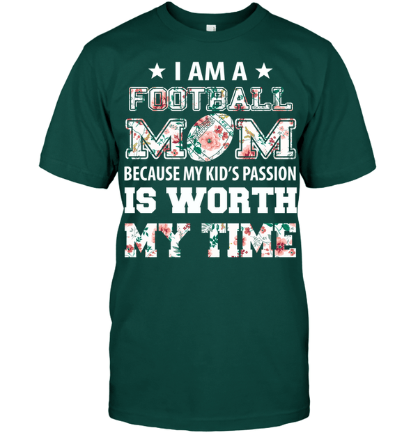 GearLaunch Apparel Unisex Short Sleeve Classic Tee / Deep Forest / S Football My kid's passion custom t shirt design