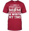 GearLaunch Apparel Unisex Short Sleeve Classic Tee / Deep Red / S Football My kid's passion custom t shirt design