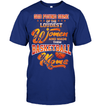 GearLaunch Apparel Unisex Short Sleeve Classic Tee / Deep Royal / S Basketball Custom T Shirt God Found Some Of The Loudest Women