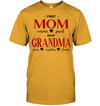 GearLaunch Apparel Unisex Short Sleeve Classic Tee / Gold / S First mom now grandma Mother's day Custom T-shirt with name #0905H