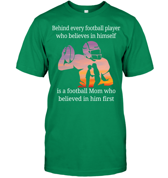 GearLaunch Apparel Unisex Short Sleeve Classic Tee / Kelly Green / S Football Believe in him custom t shirt design