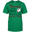 GearLaunch Apparel Unisex Short Sleeve Classic Tee / Kelly Green / S Football Momsicle custom t shirt design