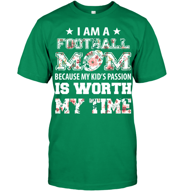 GearLaunch Apparel Unisex Short Sleeve Classic Tee / Kelly Green / S Football My kid's passion custom t shirt design