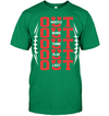 GearLaunch Apparel Unisex Short Sleeve Classic Tee / Kelly Green / S Football OUT custom t shirt design