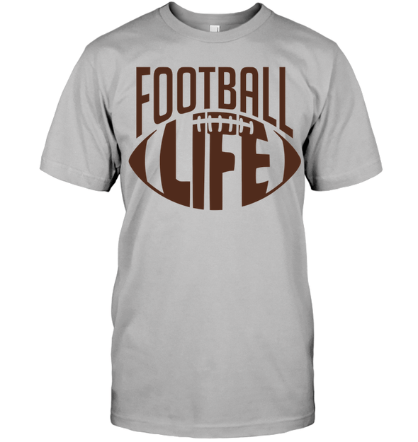 GearLaunch Apparel Unisex Short Sleeve Classic Tee / Light Steel / S Football Life custom t shirt design