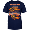 GearLaunch Apparel Unisex Short Sleeve Classic Tee / Navy / S Basketball Custom T Shirt God Found Some Of The Loudest Women