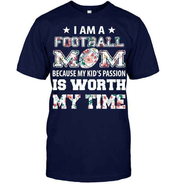 GearLaunch Apparel Unisex Short Sleeve Classic Tee / Navy / S Football My kid's passion custom t shirt design