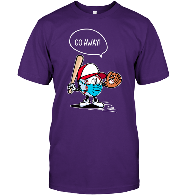 GearLaunch Apparel Unisex Short Sleeve Classic Tee / Purple / S Go away Baseball T-shirt