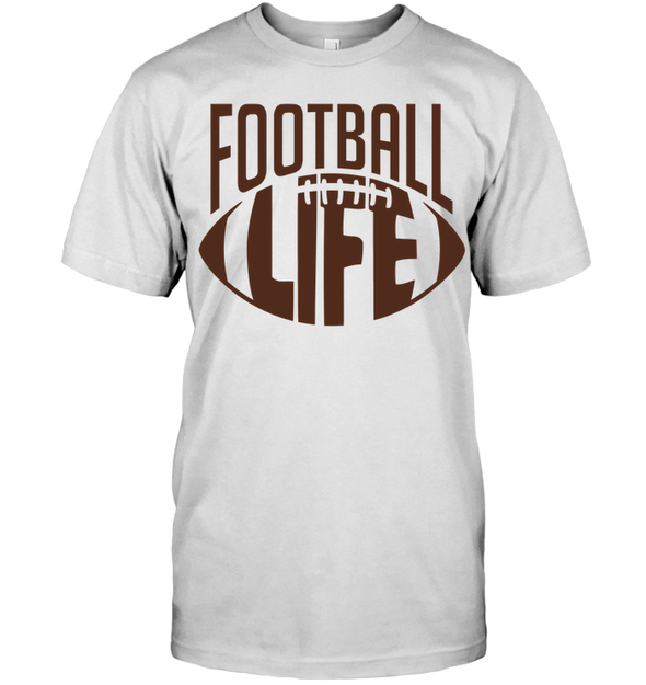 GearLaunch Apparel Unisex Short Sleeve Classic Tee / White / S Football Life custom t shirt design