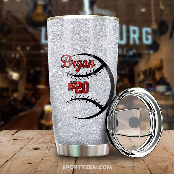 manual Baseball Mom Tumbler 20 Oz Stainless Steel #203l