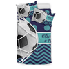 Sportyzen bedding Bedding Set - Beige - Soccer Bedding / US Twin Custom Soccer Bedding Set #291019H
