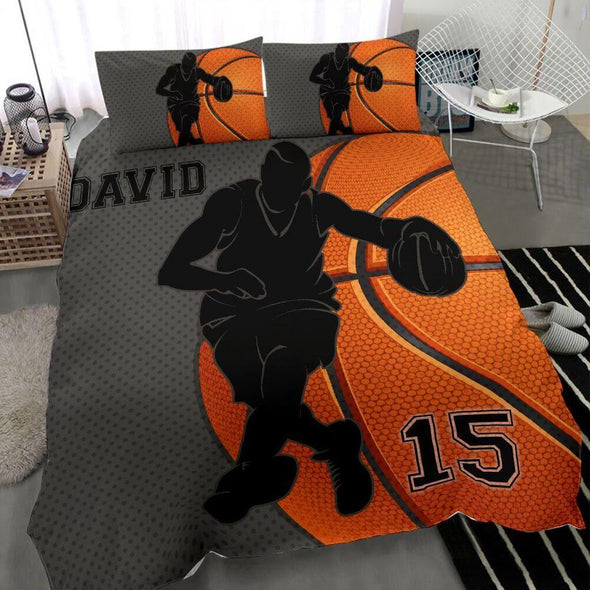 Sportyzen Bedding Set Basketball Custom Duvet Cover Bedding Set Player 2 with Your Name #1902H