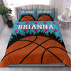 Sportyzen Bedding Set Basketball Custom Duvet Cover Bedding Set Polka Dots with Your Name #0801L