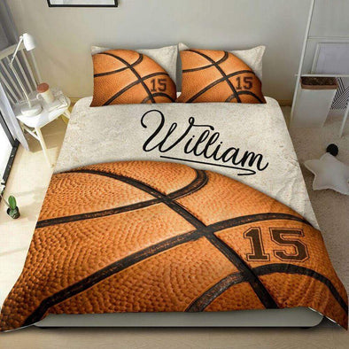 Sportyzen Bedding Set Basketball Custom Duvet Cover Bedding Set Vintage with Your Name #0401H
