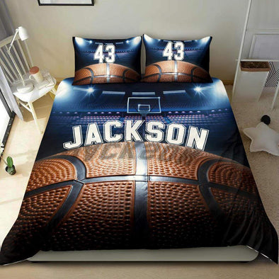 Sportyzen Bedding Set Basketball Custom Duvet Cover Bedding Set with Your Name #1202