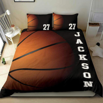 Sportyzen Bedding Set Basketball Custom Duvet Cover Bedding Set with Your Name