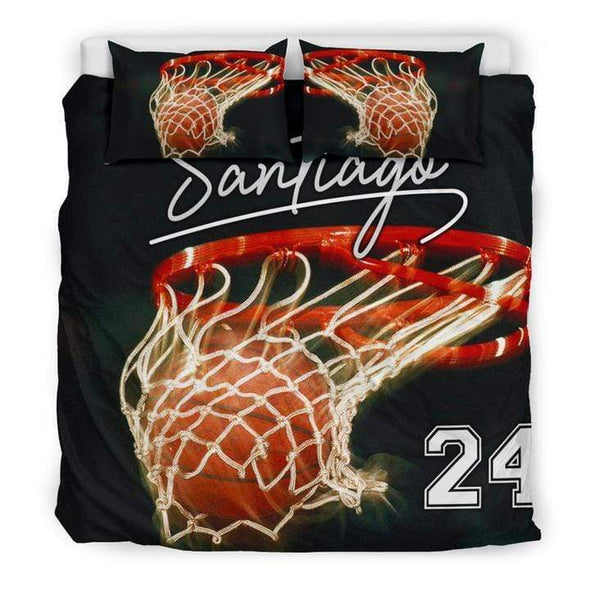 Sportyzen Bedding Set Basketball Hoop Custom Duvet Cover Bedding Set with Your Name #0503h