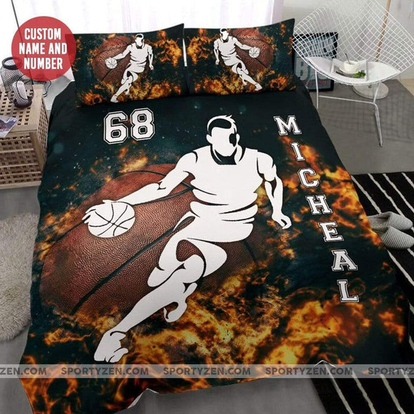 Sportyzen Bedding Set Basketball player Custom Duvet Cover Bedding Set with Your Name #0403l