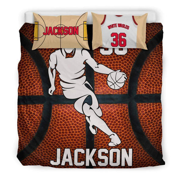 Sportyzen Bedding Set Bedding Set - Black - Custom Basketball Bedding Set #151119H / US King Custom Basketball Bedding Set #151119H