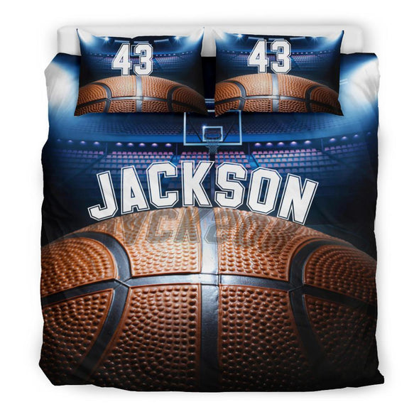Sportyzen Bedding Set Bedding Set - Black / US King Basketball Custom Duvet Cover Bedding Set with Your Name #1202