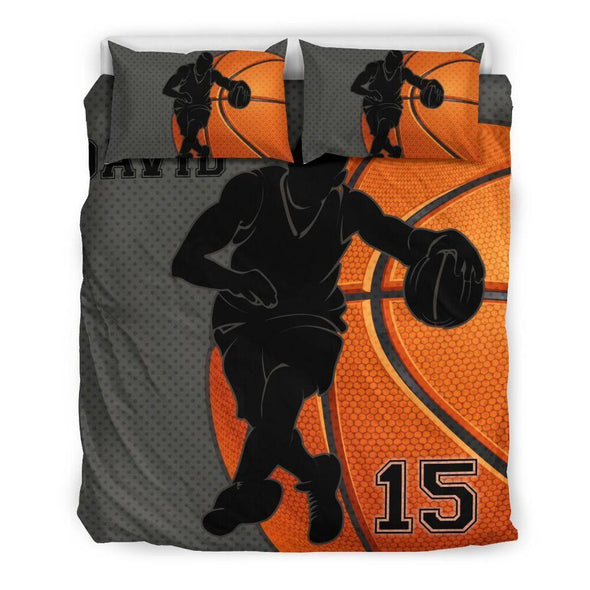 Sportyzen Bedding Set Bedding Set - Black / US Queen/Full Basketball Custom Duvet Cover Bedding Set Player 2 with Your Name #1902H