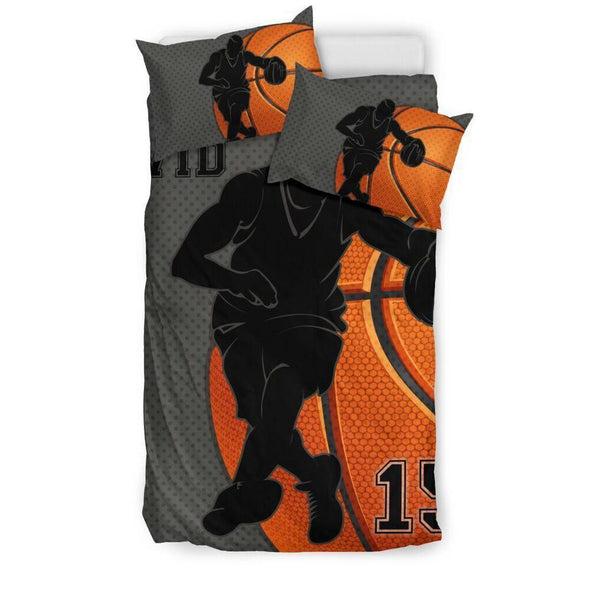 Sportyzen Bedding Set Bedding Set - Black / US Twin Basketball Custom Duvet Cover Bedding Set Player 2 with Your Name #1902H