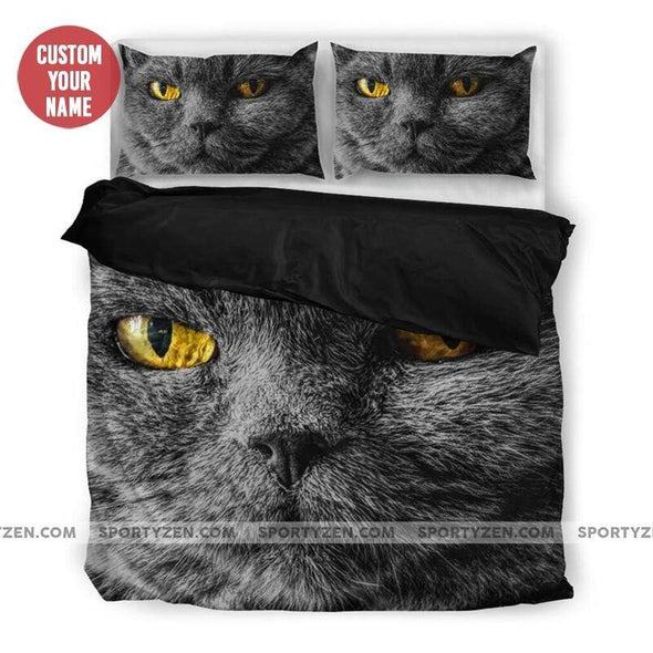 Sportyzen Bedding Set Cat Custom Duvet Cover Bedding Set Court with Your Name #2803H