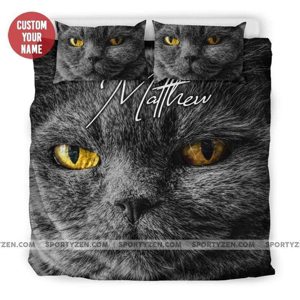 Sportyzen Bedding Set Cat Custom Duvet Cover Bedding Set Court with Your Name #251219L