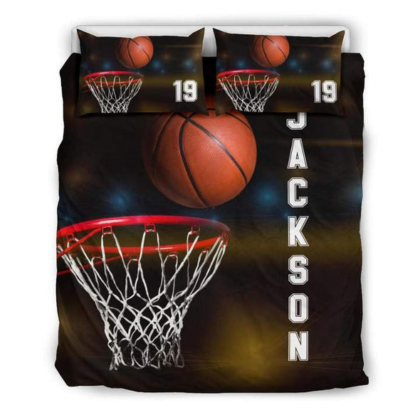Sportyzen Bedding Set Copy of Basketball Hoop Custom Duvet Cover Bedding Set with Your Name #192