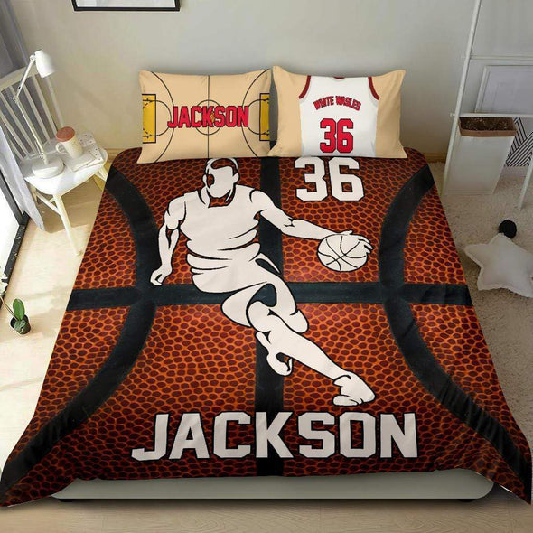 Sportyzen Bedding Set Custom Basketball Bedding Set #151119H