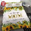 Gift for Mom Sunflower Custom your name Duvet Cover Bedding Set #0705H