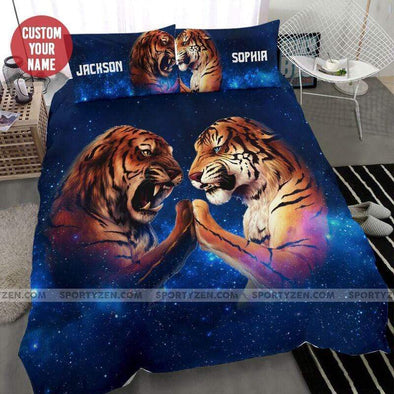 Sportyzen Bedding Set Tiger Heart Shape Custom name Duvet Cover Bedding Set #407L