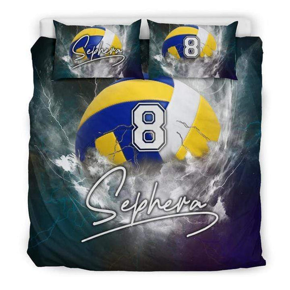 Sportyzen Bedding Set Volleyball Custom Duvet Cover Bedding Set with Your Name #13220H