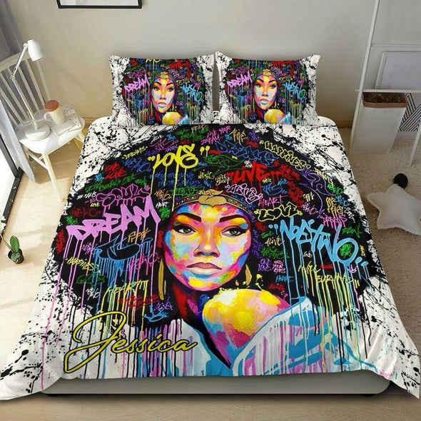African American Dream Custom Name  Duvet Cover Bedding Set #106H