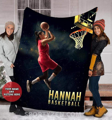 CN blanket Custom Blanket Basketball player with photo #173l
