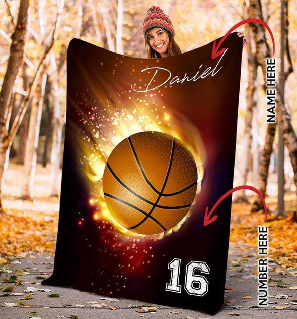 CN blanket Custom blanket Basketball Your Ball with love #2002L