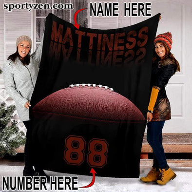 CN blanket Custom Blanket Football Ball #301219v